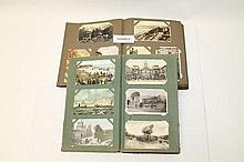 Postcards - in two albums including topographical,