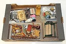 Dolls' house furniture, wooden, metal, mauchline w