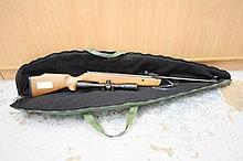 SMK19 .22 air rifle with sight, in padded carrying
