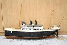 Scratch-built model of SS Montrose, 137cm overall