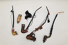 Collection of five antique German pipes - various