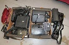 Quantity of vintage cine cameras and equipment inc