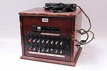 1950s GPO 2+4 switchboard with dolls' eye indicato