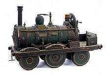Scratch-built model of a 19th century steam locomo