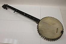 Vintage banjo with mother of pearl star decoration