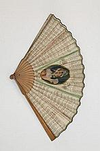 Rare early 19th century paper fan 'The Art of Fort