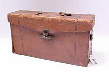 A Cycle Poco folding plate camera in brown leather