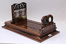 Victorian burr walnut stereographoscope with hinge