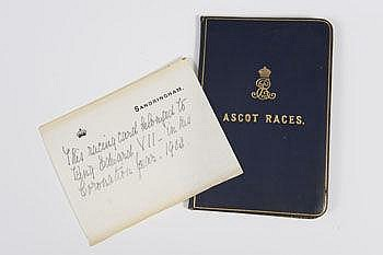 HRH King Edward VII - a rare Royal race card for