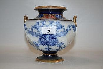 Late Victorian Macintyre two-handled vase with