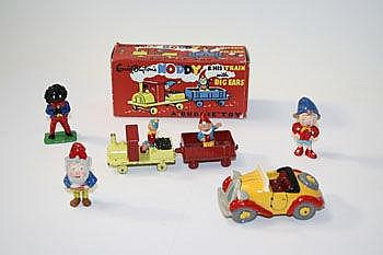 Budgie - Noddy and his train, with Big-Ears, plus