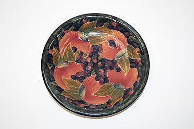 Moorcroft pottery dish decorated in the