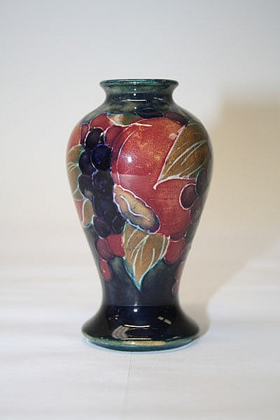Moorcroft pottery vase decorated in the