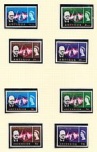 OMNIBUS ISSUES 1965-67 & 1974 Churchill U/M collection on album pages