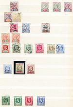 SEYCHELLES Q.Vic - QEII M or U collection on stocksheets incl. 1903 3c