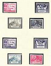 OMNIBUS ISSUES 1949 UPU collection U/M on album pages, almost complete