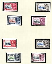 OMNIBUS ISSUES 1935 Silver Jubilee U/M or M collection on album pages,