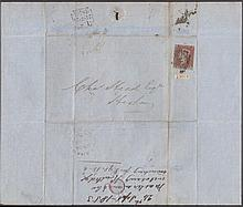 QUEEN VICTORIA: LINE ENGRAVED 1853 (Sept 24th) cover to Hexham bearing
