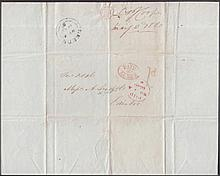 POSTAL HISTORY 1840 (May 4th) Penultimate Day of Uniform Penny Post: E