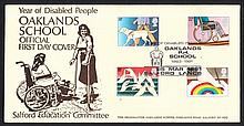 1981 Disabled Oaklands P.H.School Salford Official FDC. Printed address, fine. Cat £90