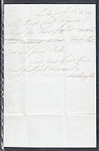 Duke of Wellington (1769-1852): Handwritten & signed letter to Lady Seymour. Cat £575
