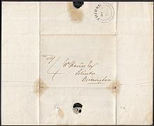 1839 (Dec 5th) First Day of Uniform Fourpenny Post Entire with black double ring Thirsk CDS & manuscript ''4'' in black. Contents also dated Dec 5th. Cat £800