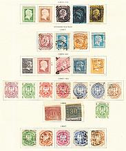 Prussia: 1850-1867 collection on printed album page incl. 1866 transparent paper issue, 1867 set used. (28)