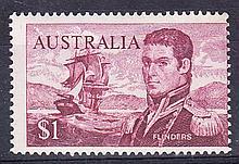 1966 Navigators $1 brown-purple perf 15 x 14 U/M, centred to right, fine. SG 401c Cat £85