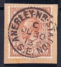 1913 (June 30th) 5d brown on piece with Anerley CDS. Cat £2450