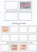 Post Offices in China: Used selection comprising Peking 1917-18 20c, 5l, Dues 1917 10c, 1918 8c on 20c, 12c on 30c, Tientsin 1917 Express 30c. SG 13, 17, D19, 29, 30, E44 Cat £466 (6)