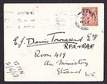 1918 (June 3rd) George V 1½d brown on plain cover with London W1 CDS on First Day of Introduction of 1½d letter rate. Very scarce. Handwritten address, fine.