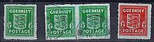 1942 Banknote paper ½d Mint & F/U pair & 1d F/U. SG 4-5 Cat £96 (4)