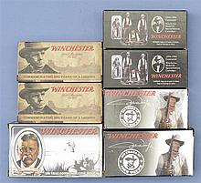 Seven Boxes Of Commemorative Winchester Ammunition