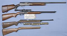 Three Long Guns -A) Remington Model 11 Semi-Automatic Shotgun
