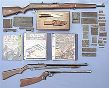 Three Air Guns -A) Unknown Air Rifle with Accessories