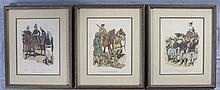 Three Framed Military Historical Prints