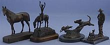 Four Small Bronze Statues
