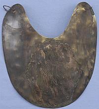 Unsigned Engraved Bronze Breastplate