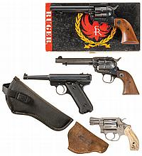 Four Sporting Handguns -A) Ruger Super Single Six Single Action Revolver with Box