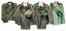 Large Grouping of East German Military Uniform Items