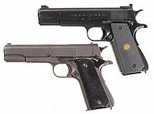 Two Argentine Semi-Automatic Pistols -A) D.G.F.M. - (F.M.A.P) .22 Caliber Buenos Aires Police Pistol