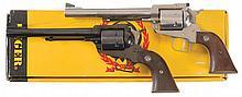 Two Ruger Single Action Revolvers -A) Ruger New Model Super Blackhawk Revolver