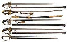 Five Swords with Scabbards
