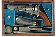 Cased Manhattan Firearms Company Model II Navy Type Percussion Revolver