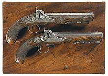 Cased Pair of Engraved Rigby Dueling Pistols -A) Rigby Percussion Pistol