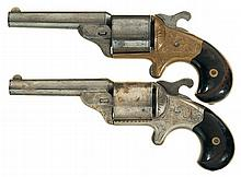 Two Engraved Moore's Patent Pocket Revolvers -A) Moore's Patent Firearms Co. Pocket Revolver