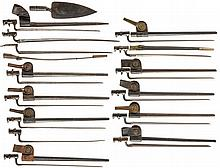 Group of Bayonets and Scabbards