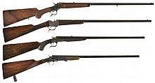 Four European Single Shot Sporting Guns -A) Thomas Bland & Sons Rolling Block Rifle