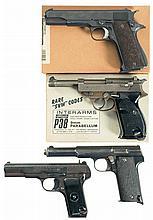 Four Semi-Automatic Pistols -A) Star Super Model Pistol with Box