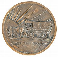 Memorial Bronze Plaque by James & Laura Fraser of the Oregon Trail